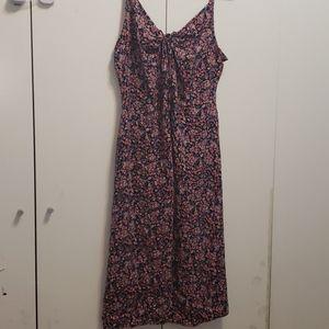 🌺Floral Strappy midi slip dress